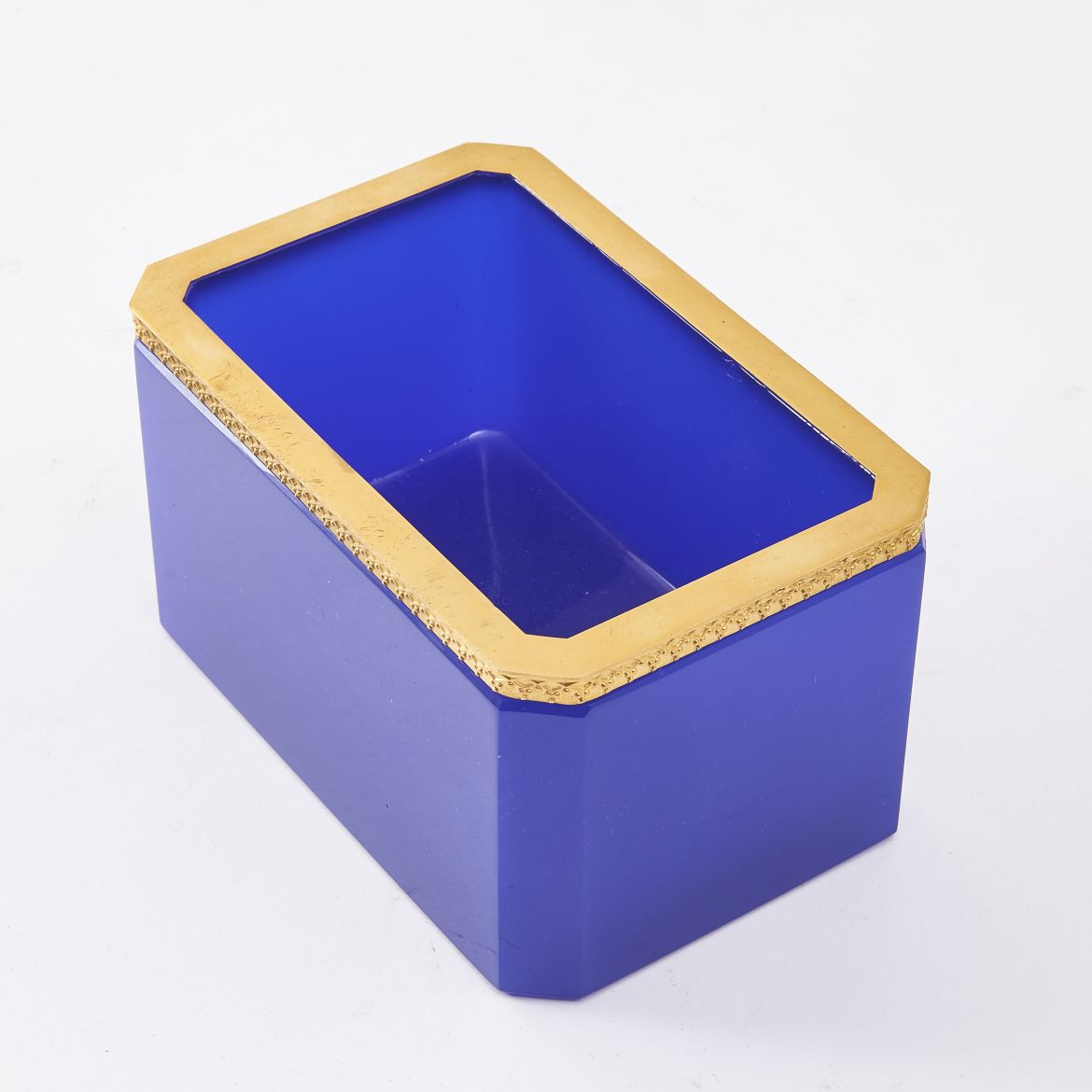 Dark Blue Murano Glass Box