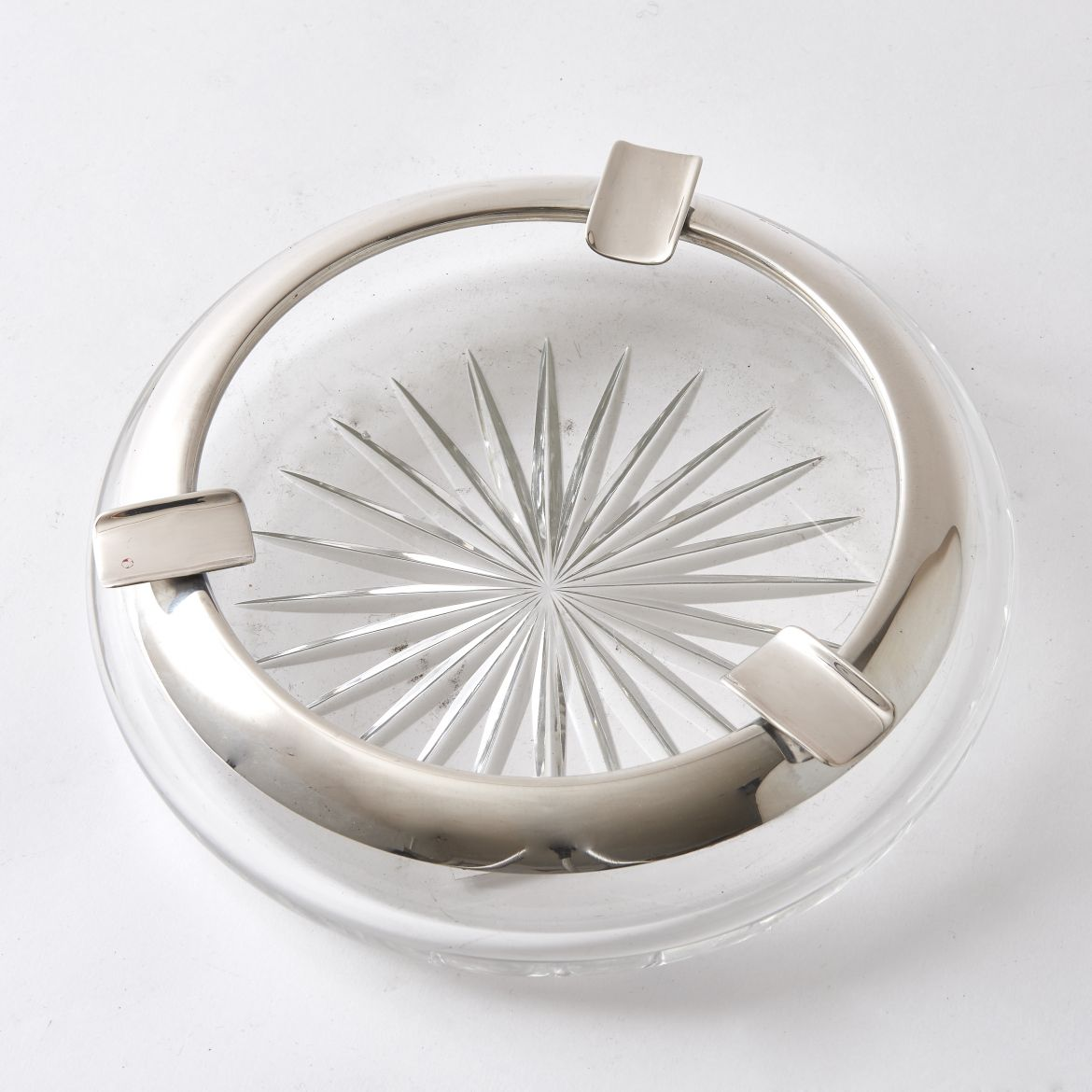 German Ashtray With Star Cut Base