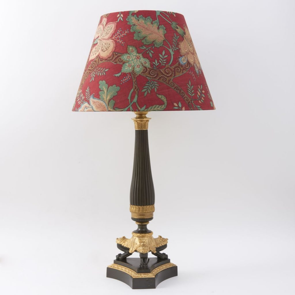French Charles X Column Lamp