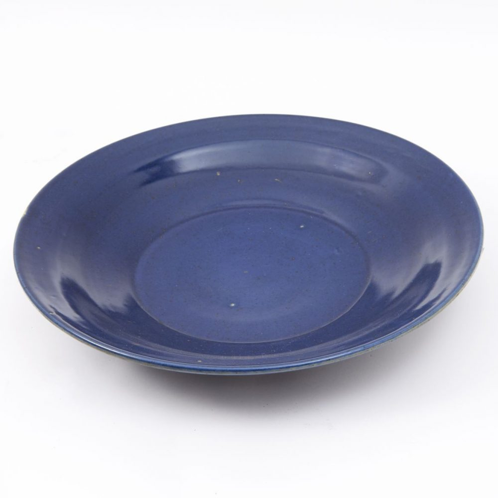 Chinese Powder Blue Dish
