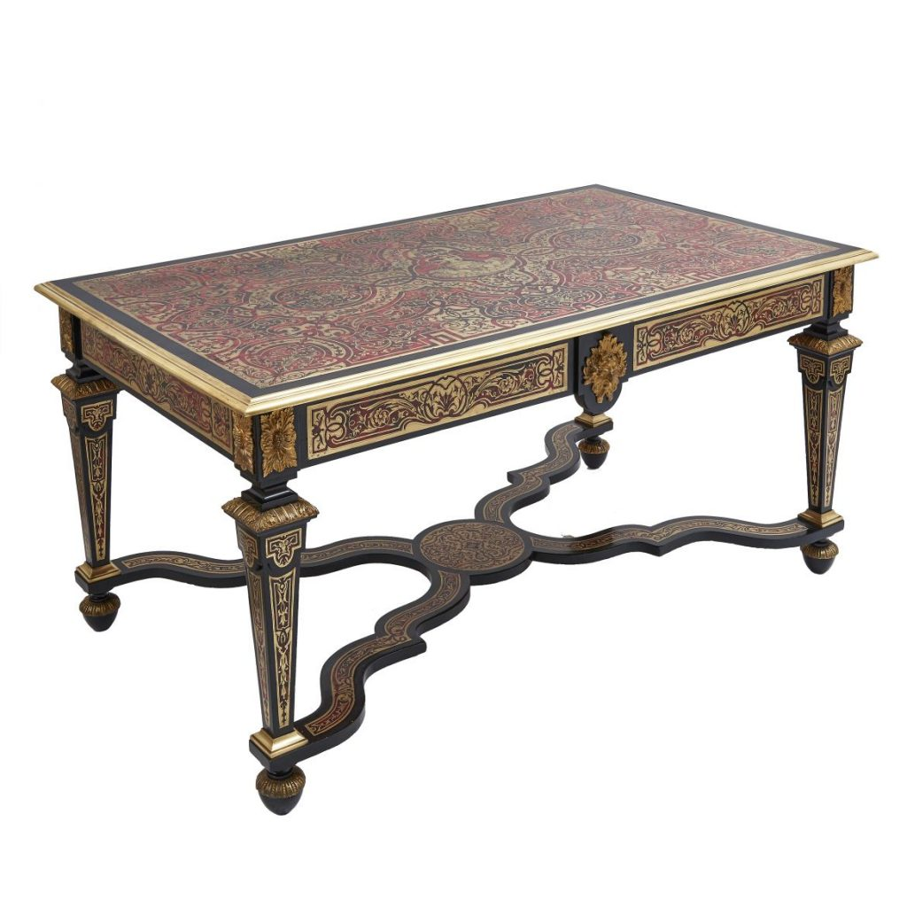 French Louis XIV Style Boulle Desk