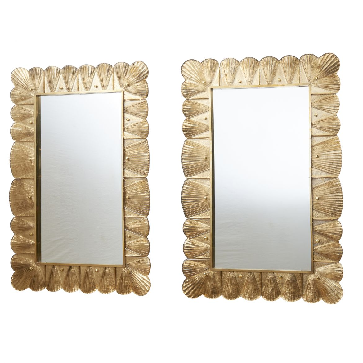 Pair Contemporary Murano Mirrors
