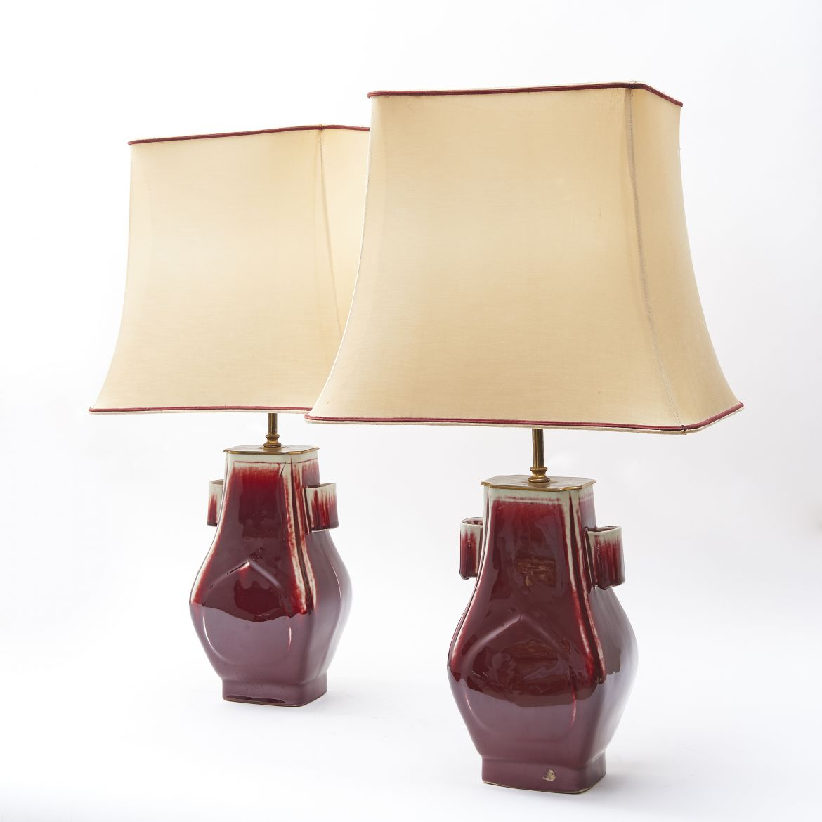 "Pair Chinese ""Archaic"" Form Lamps"