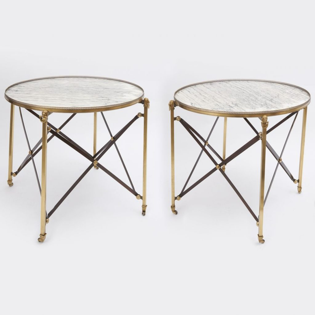Pair Campaign Tables With Cipollino Tops