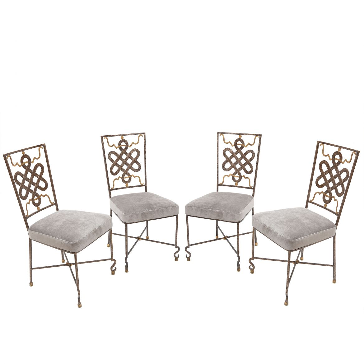 Set 4 Lacquered Iron Chairs