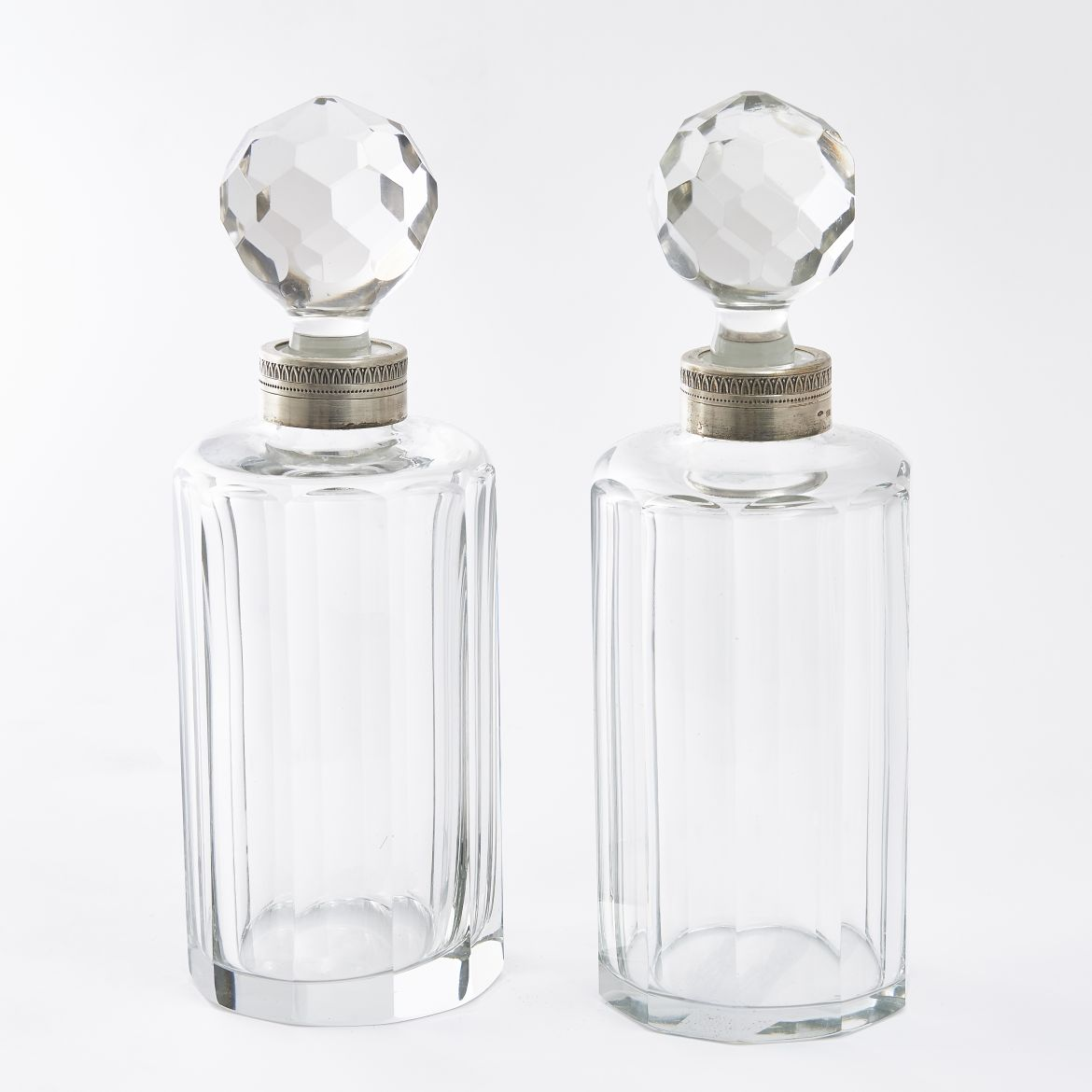Pair Italian Crystal Scent Bottles