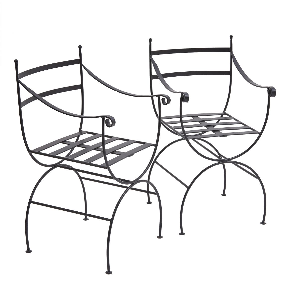 Pair Contemporary Iron Chairs