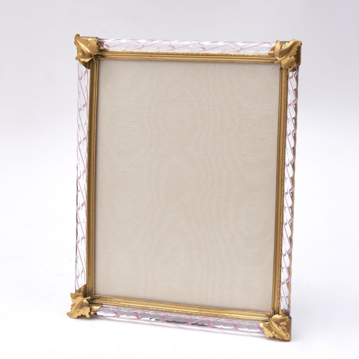 Italian Murano Twisted Glass Frame