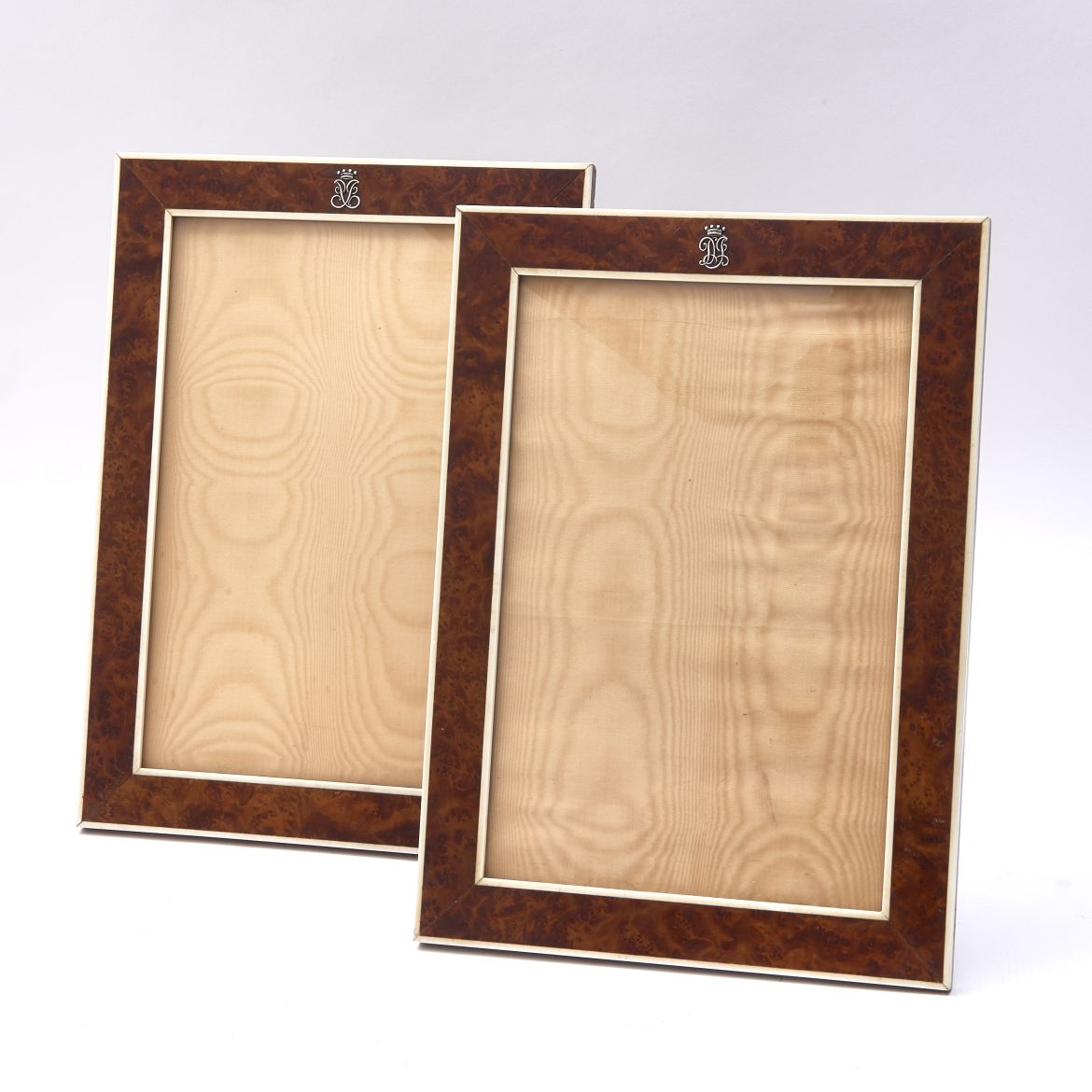 Pair Burr Wood Frames