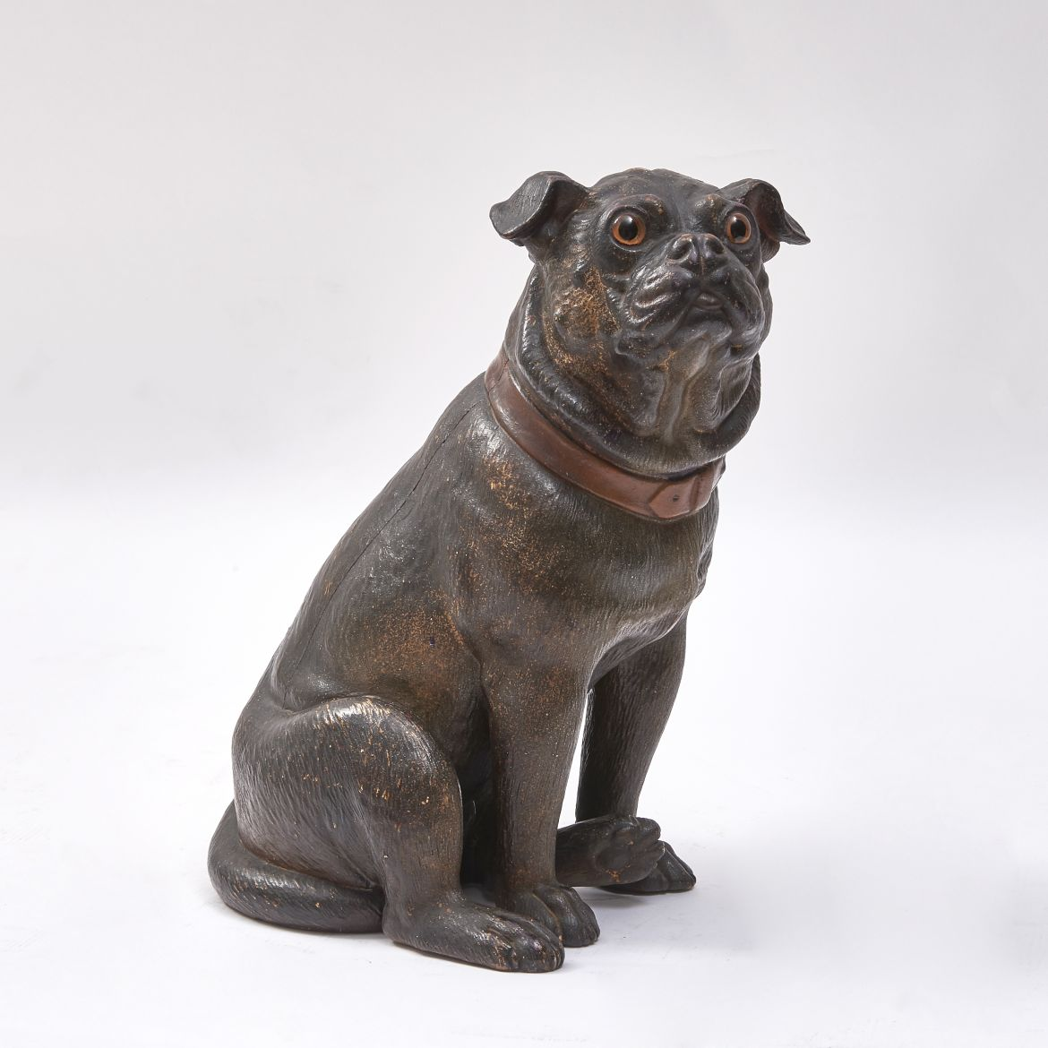 Austrian Painted Terracotta Pug