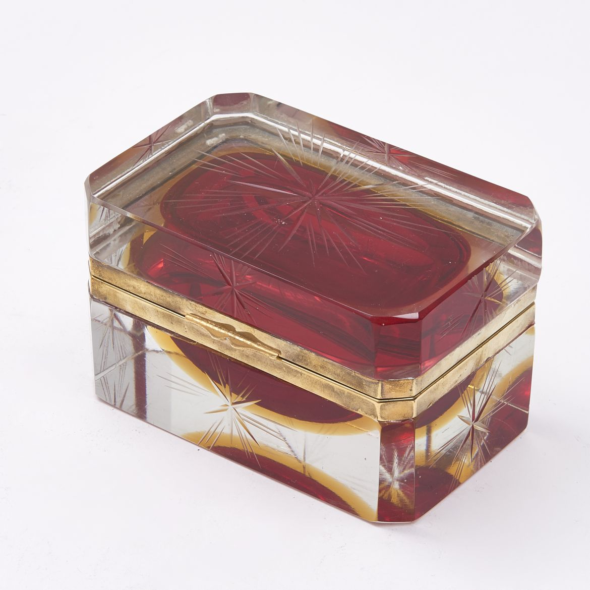 Clear & Red Murano Casket