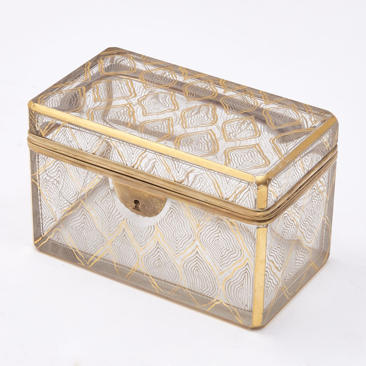 Bohemian Gilt Design Glass Box