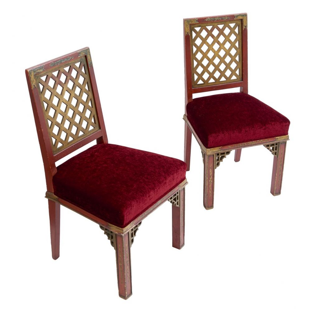 Pair Chairs by Maison Jansen