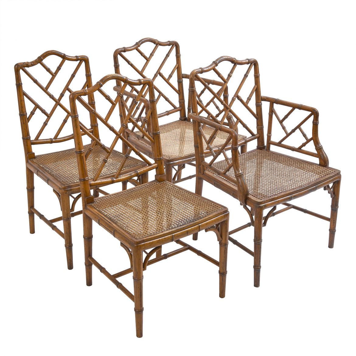 Set Faux Bamboo Chairs
