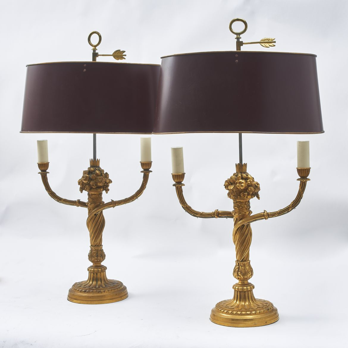 Pair French Bouillotte Lamps