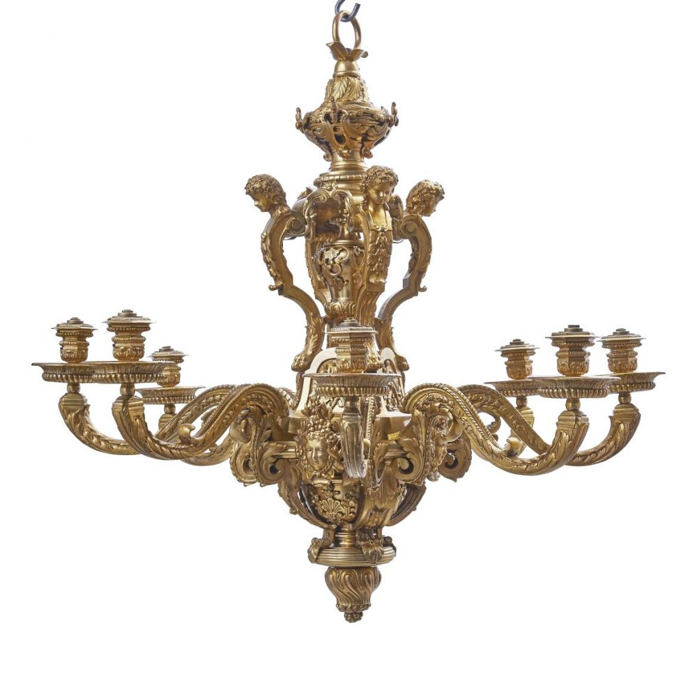 Andre Charles Boule Style Chandelier