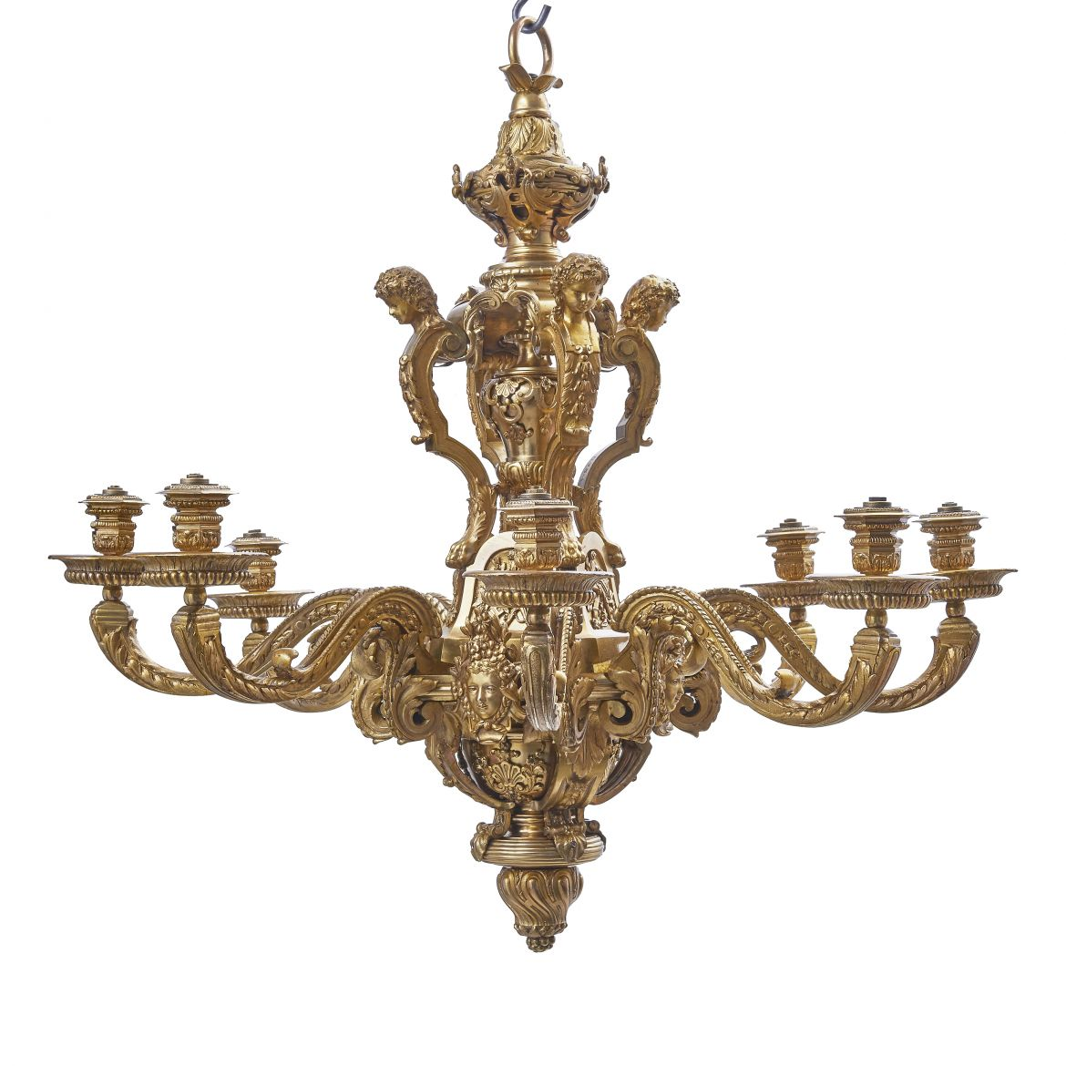 Louis XVI Style Gilt Bronze Chandelier