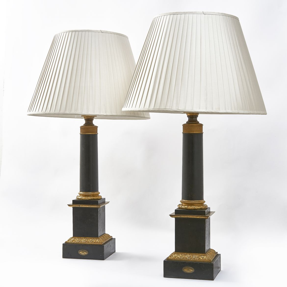 French Empire Bronze Lamps
