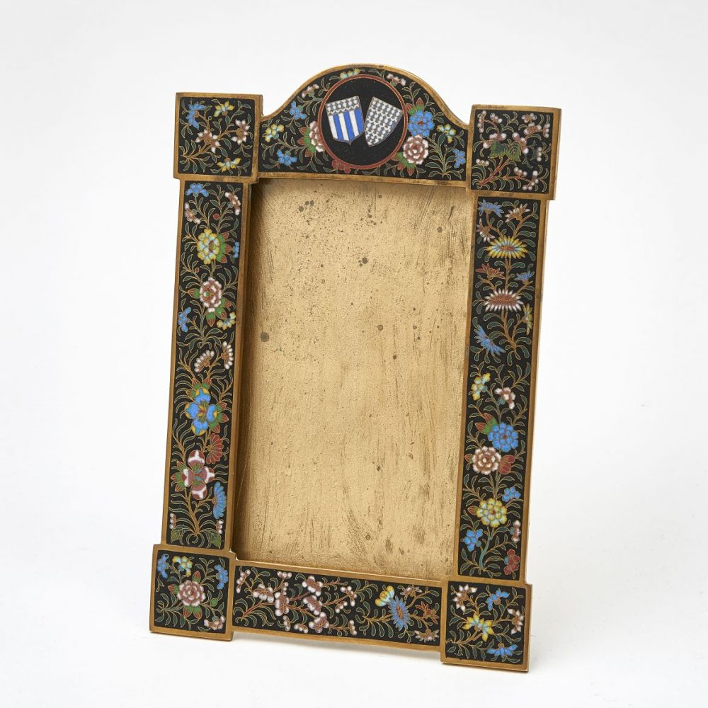 Bohemian Enamelled Photo Frame