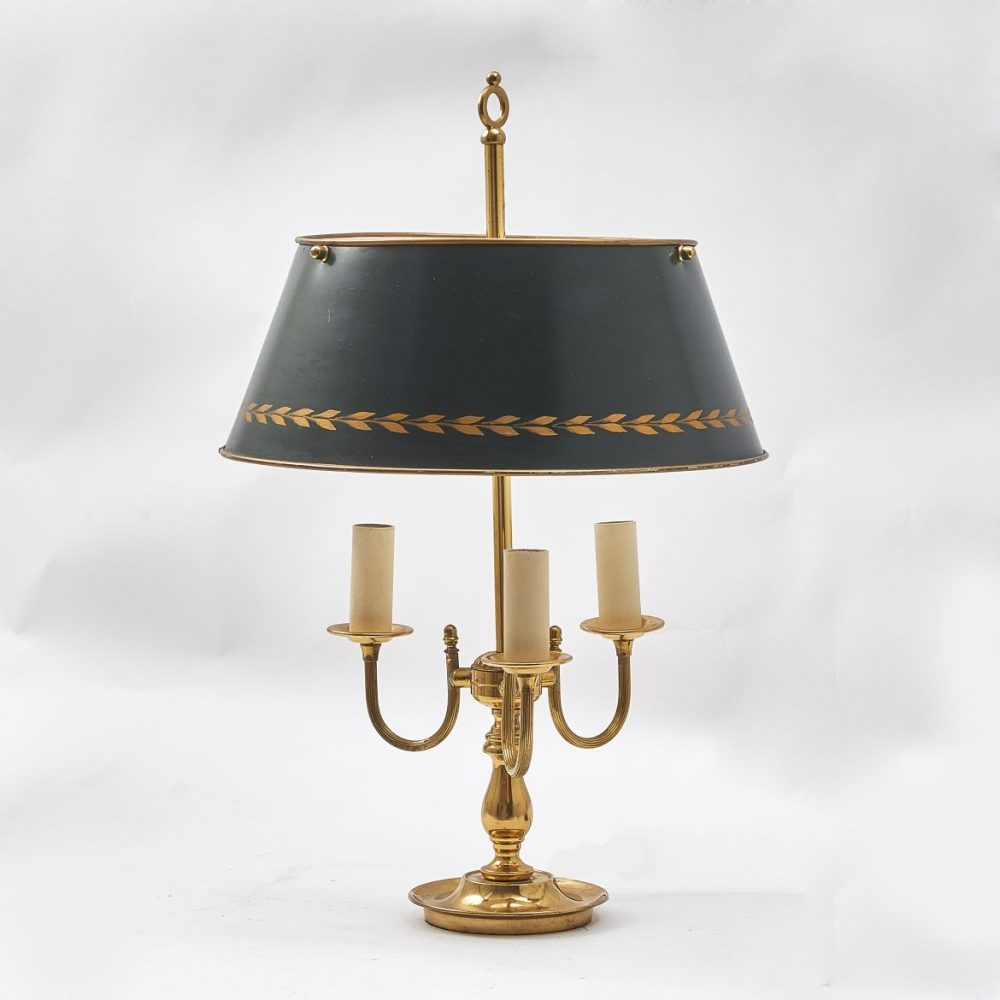 French Neoclassical Bouillotte Lamp