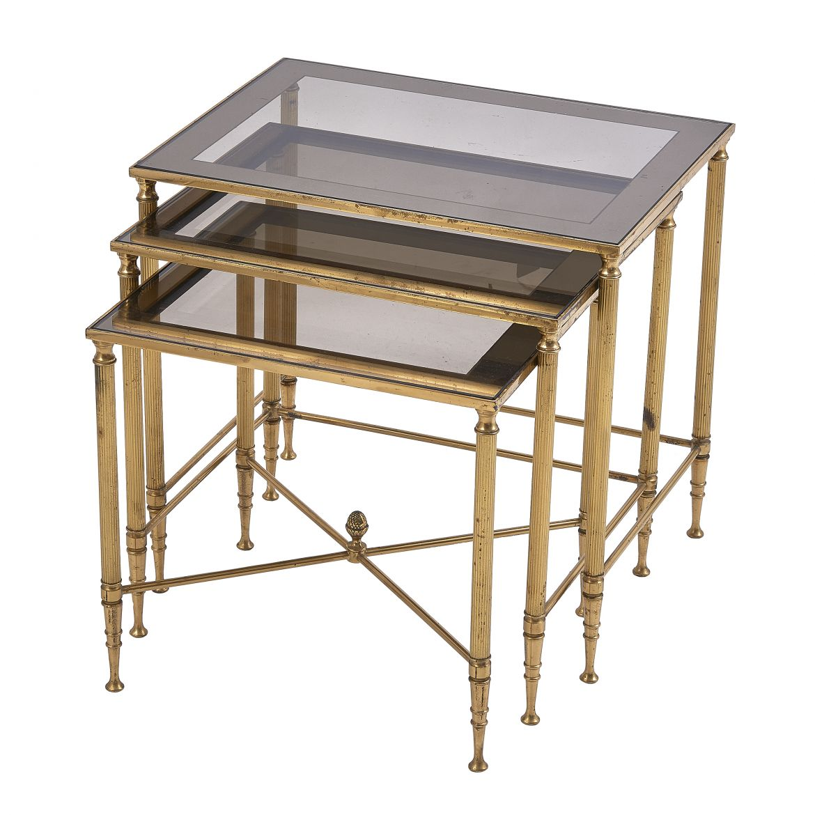 Nest of brass Tables