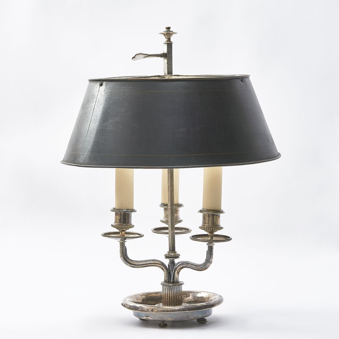 Silvered Bouillotte Lamp