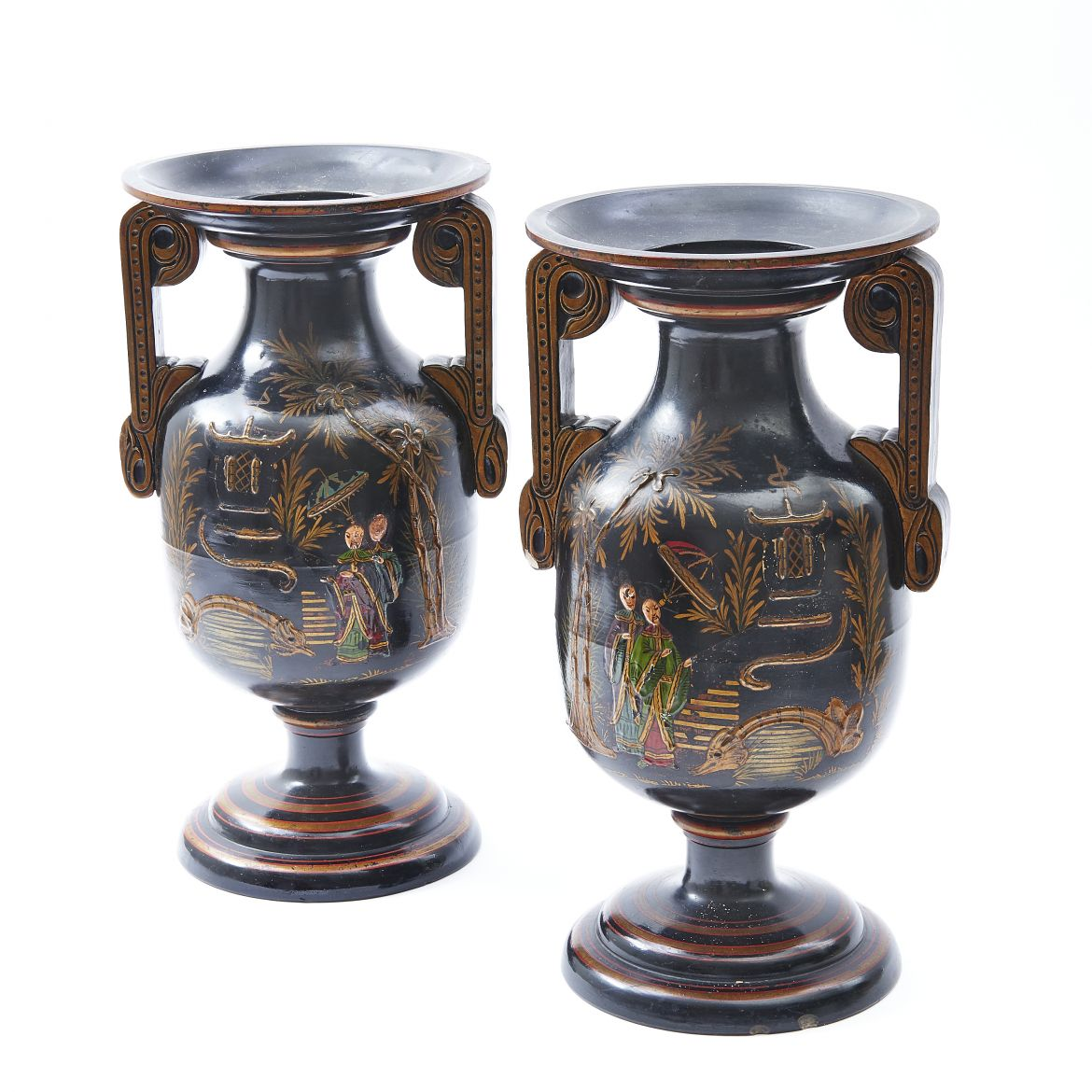Pair Terracotta Vases