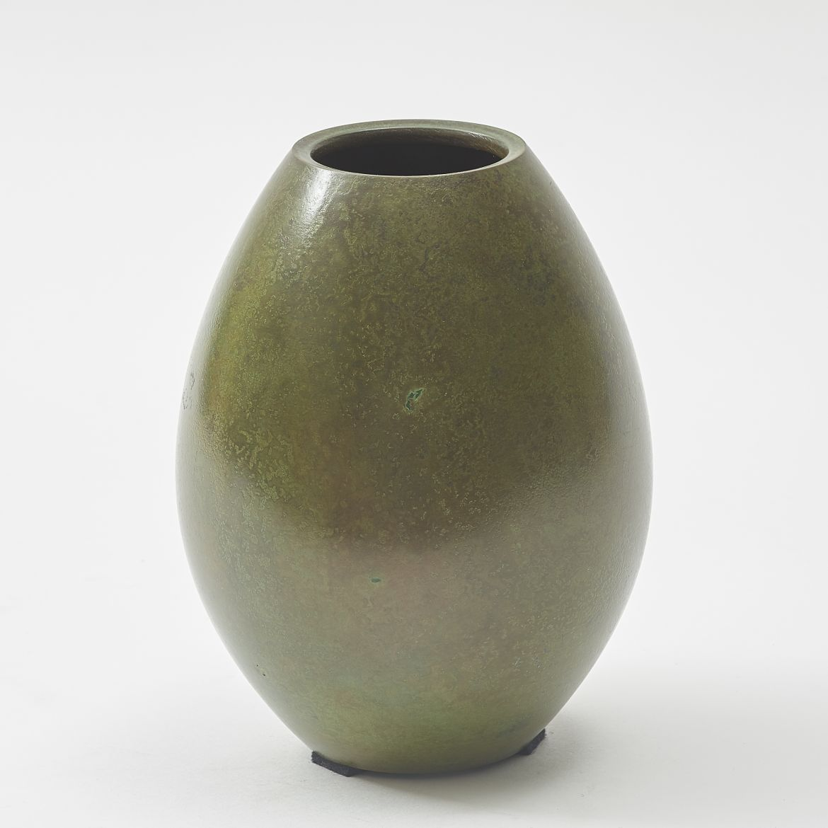 Small Japanese Bronze Ovoid Vase