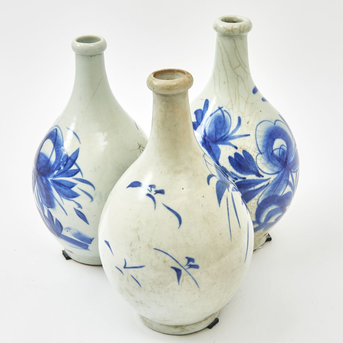 Set Three Japanese Sake Bottles