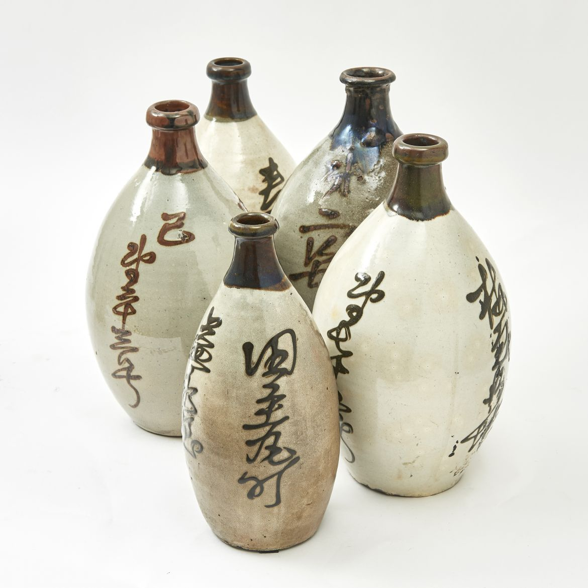 Set 5 Japanese Bottles