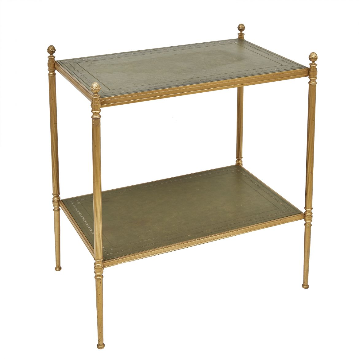Two Tier Brass Side Table