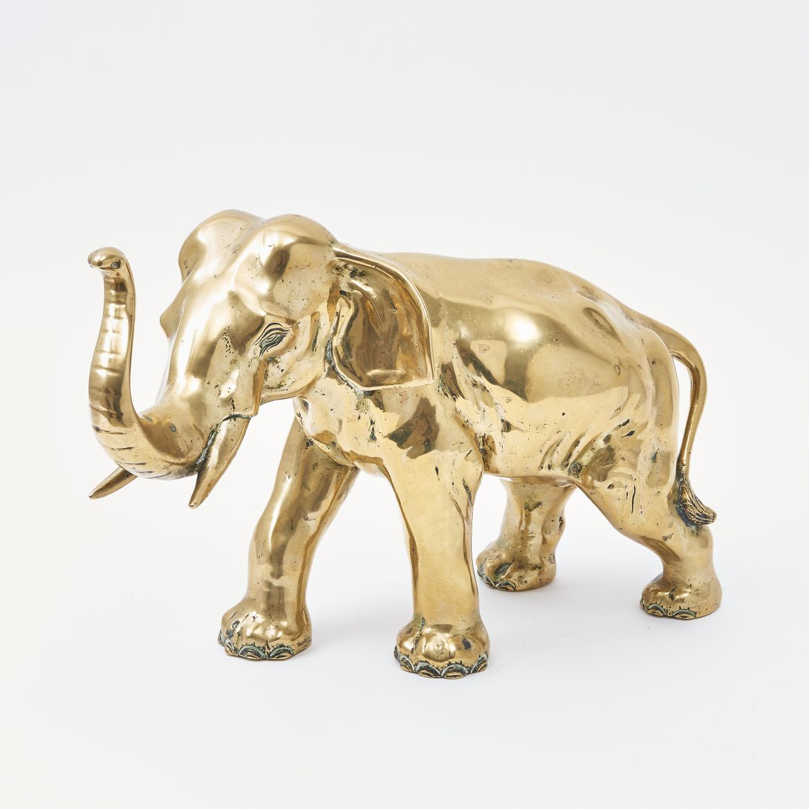 Japanese Gilt Bronze Elephant