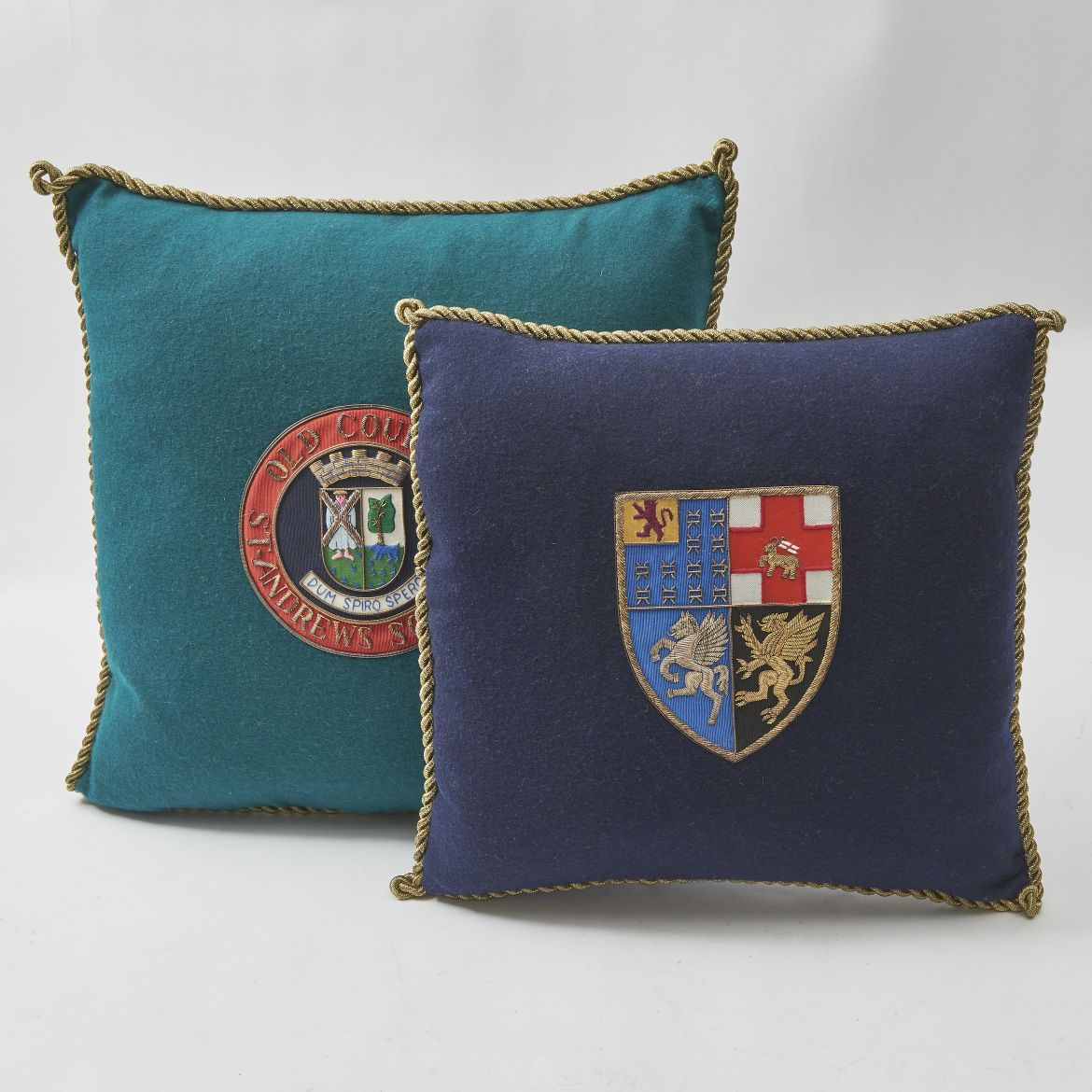 Embroidered Felt Cushions