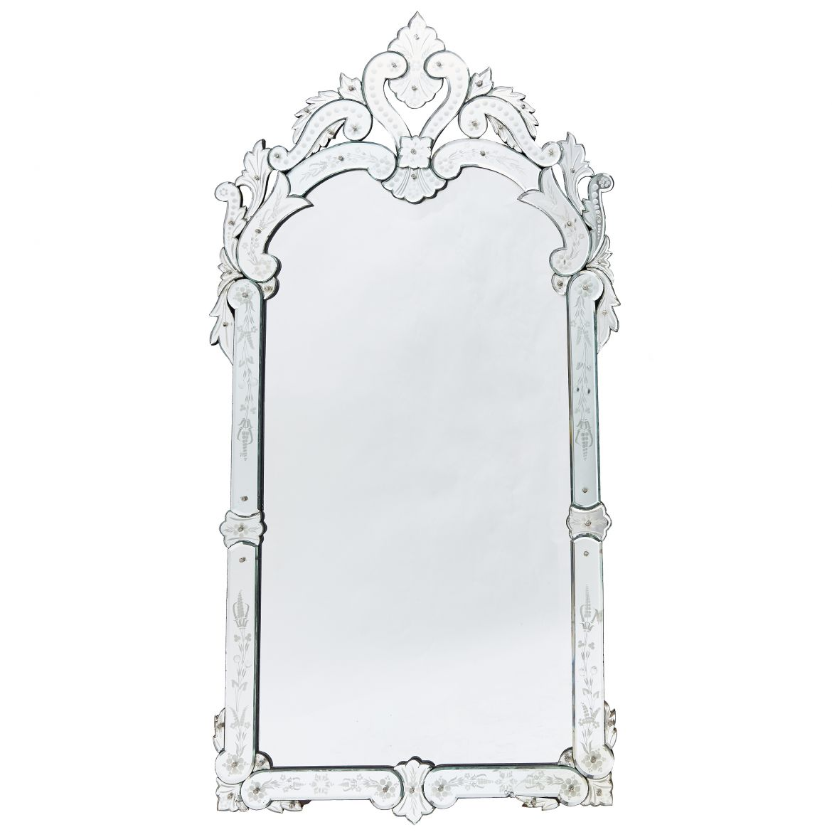 French Venetian Style Rococo Pier Mirror