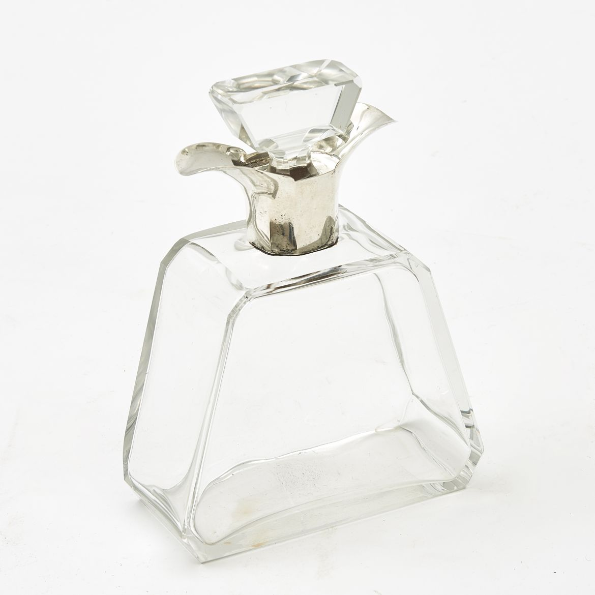 Edwardian Silver Mounted Decanter