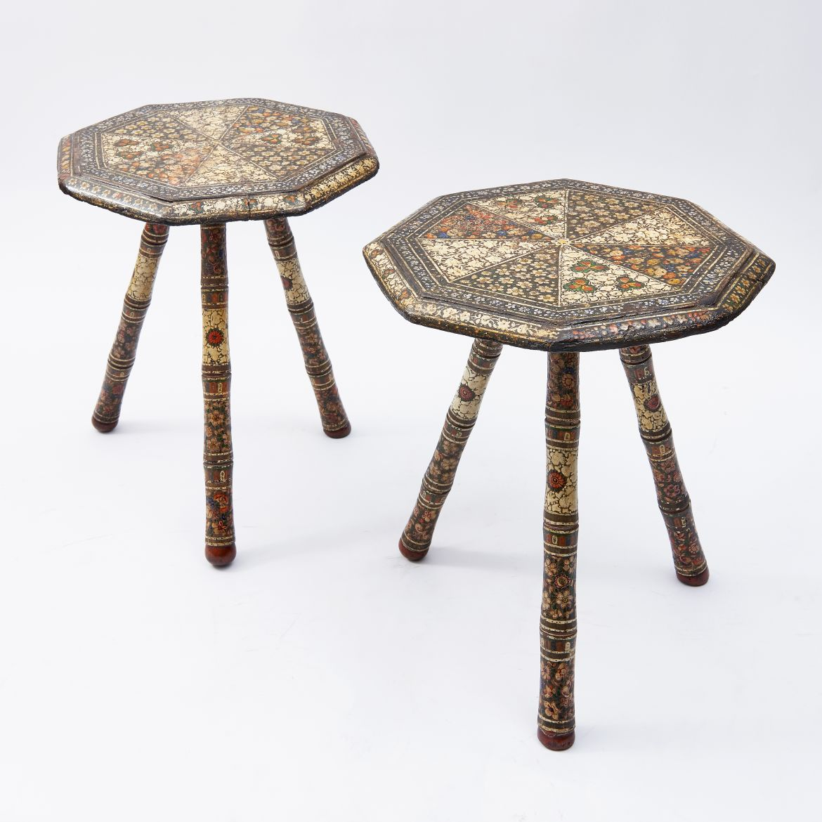 Pair Kashmir Painted Tables