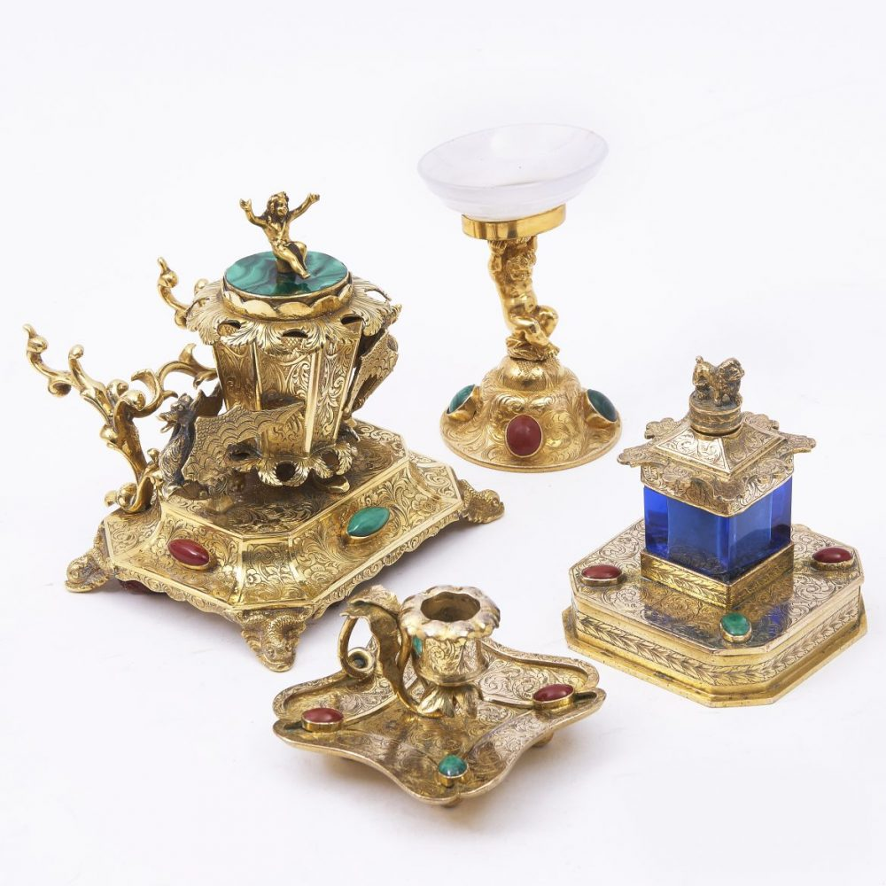 Austrian ormolu Desk Set