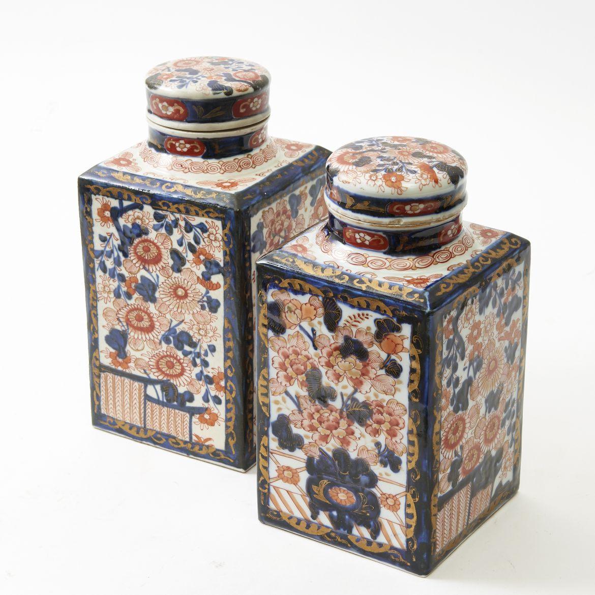 Pair Chinese Tea Caddies
