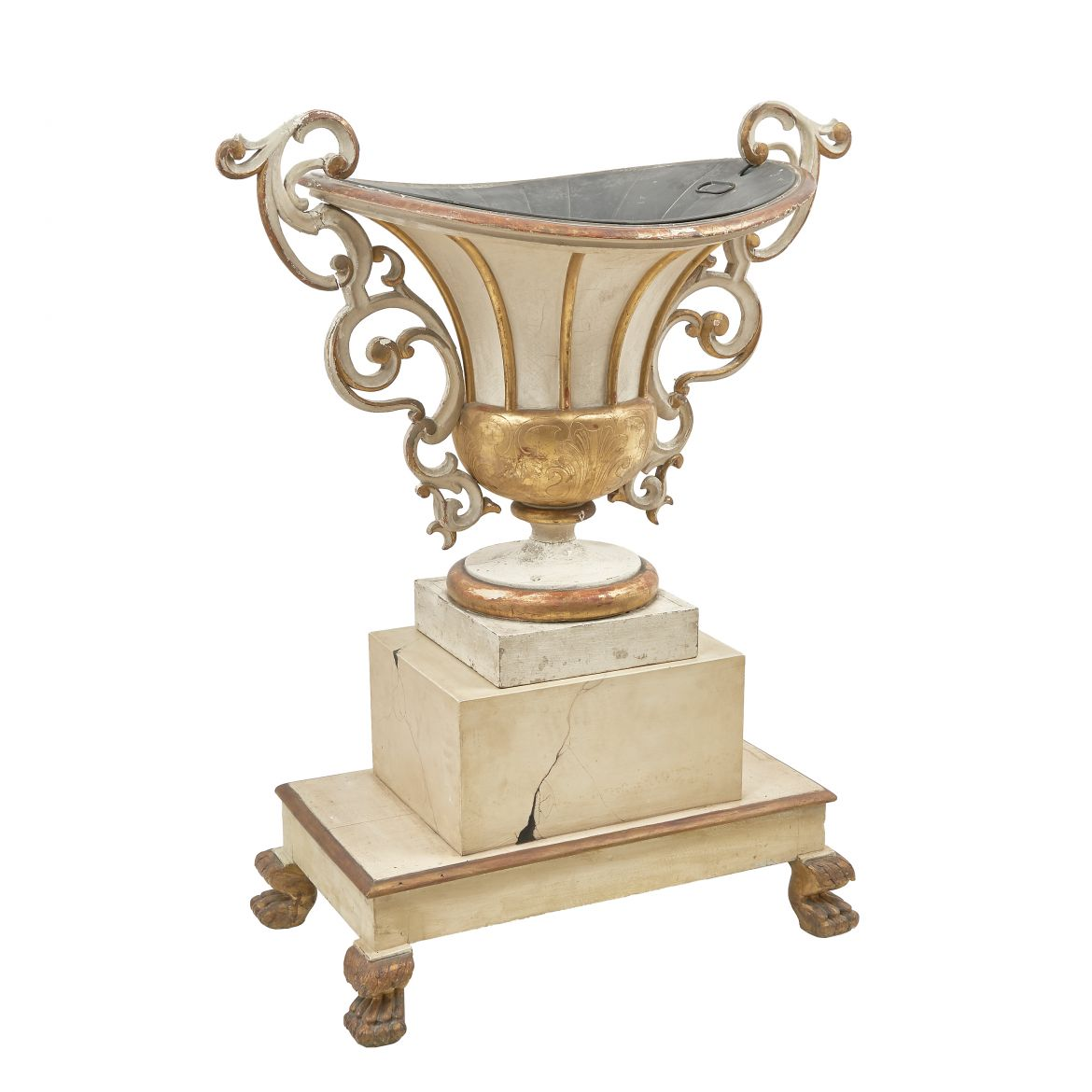Italian Parcel Gilt Campana shaped Urn