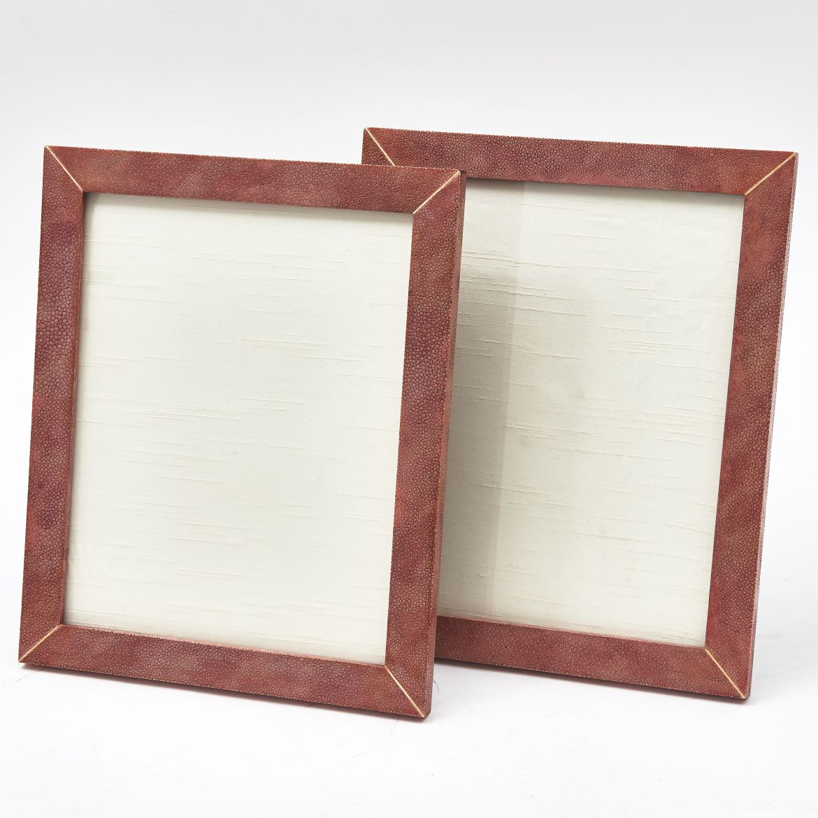 Pair English Pink Shagreen Frames