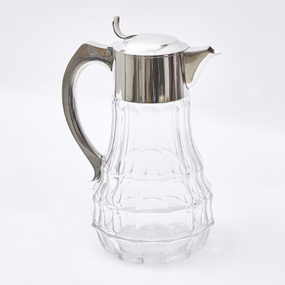 Italian Art Deco Silver Mounted Lemonade Jug