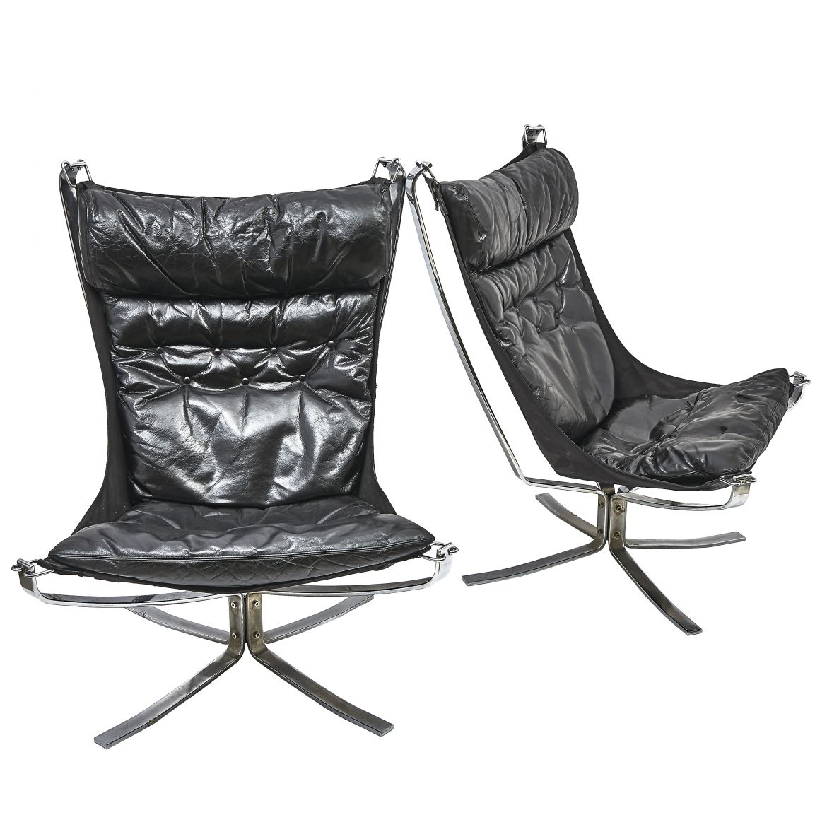 Pair 'Falcon' Armchairs