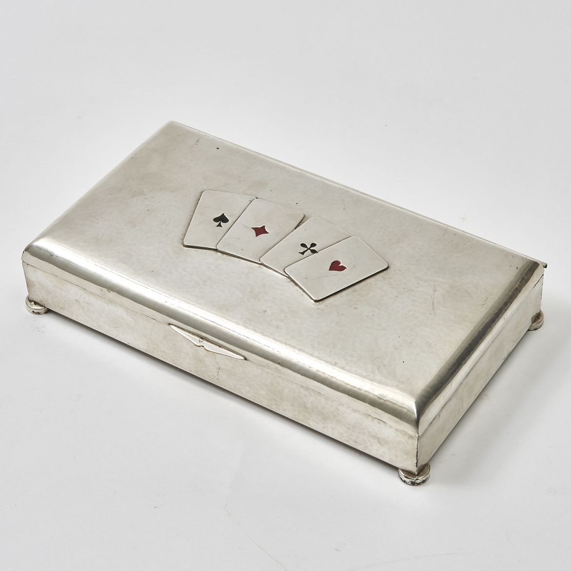 "Silver Plate ""Cribbage"" Box"