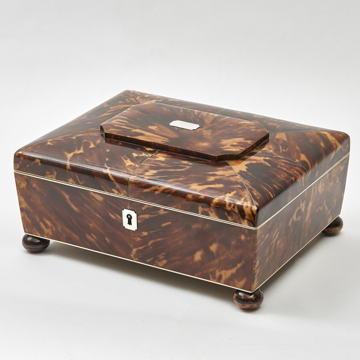 William IV Tortoiseshell Jewellery Box