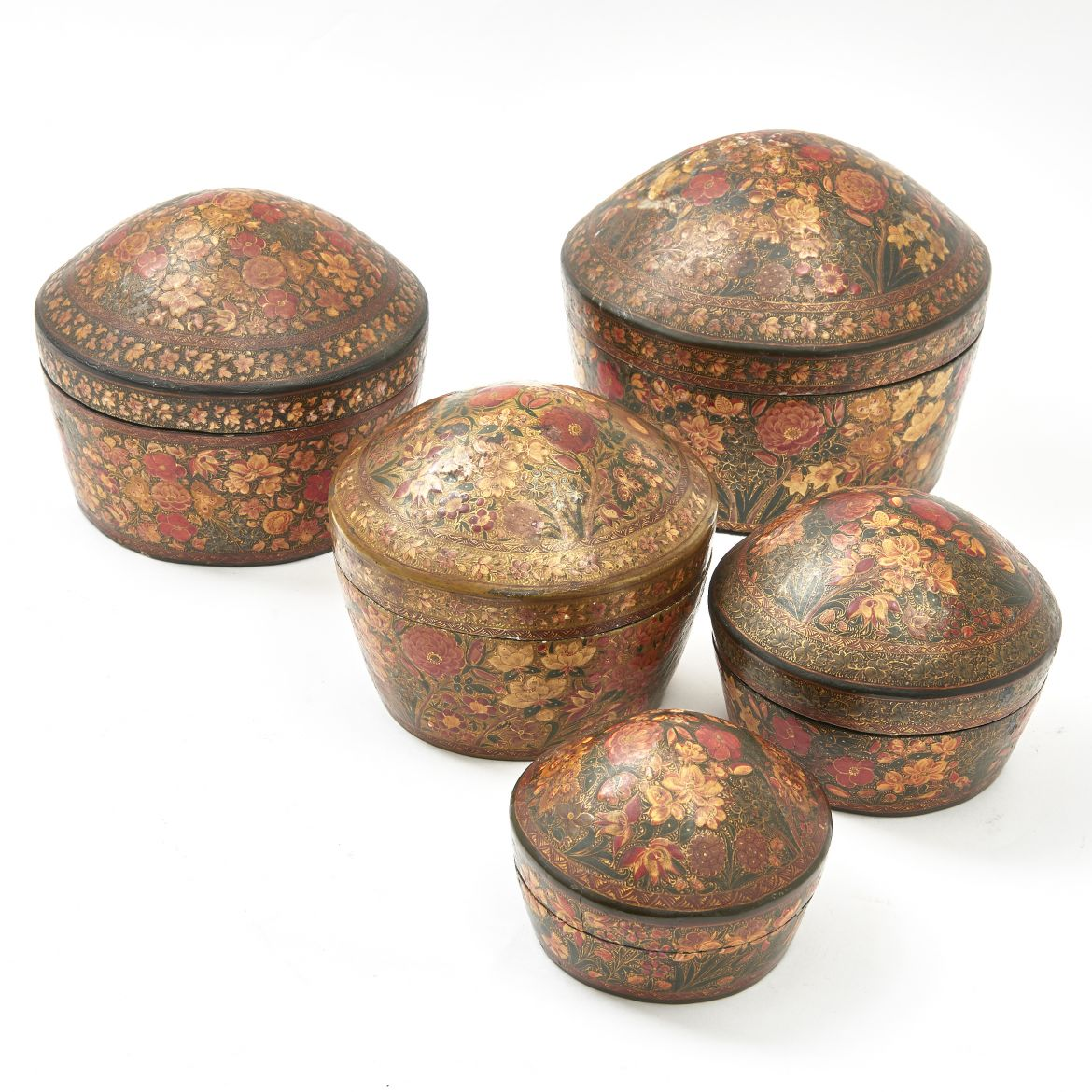 Set Indian Kashmir Boxes