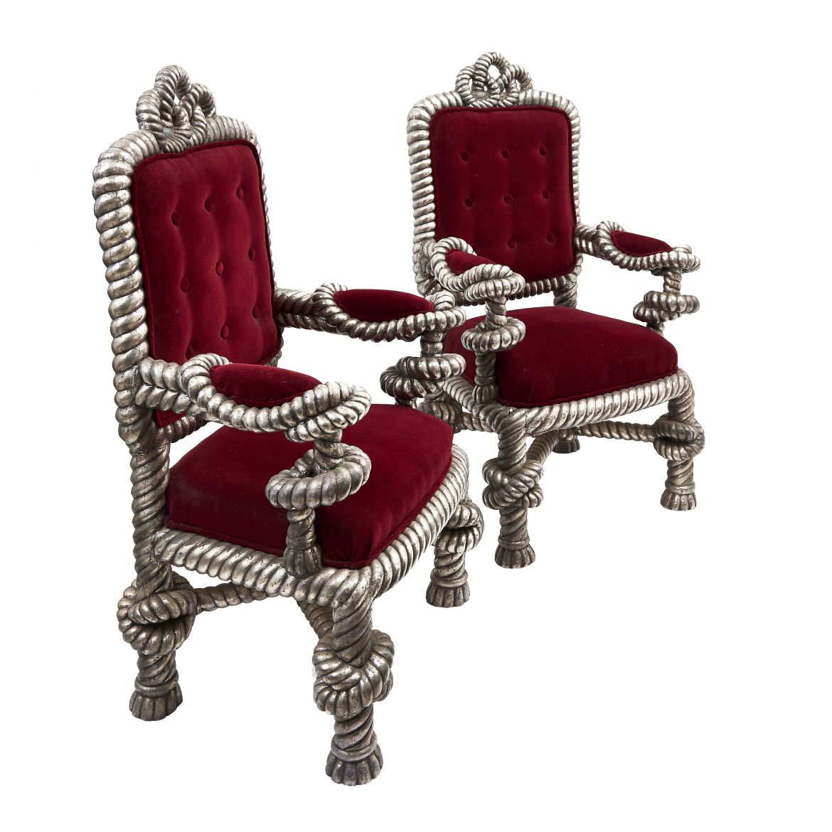 Pair Anglo Indian Armchairs