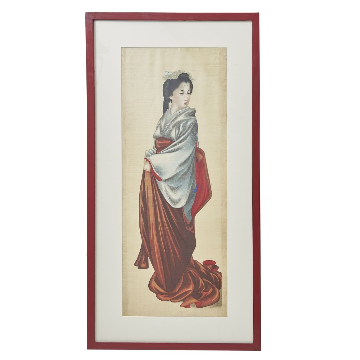 Silk Painting Of Japanese Lady