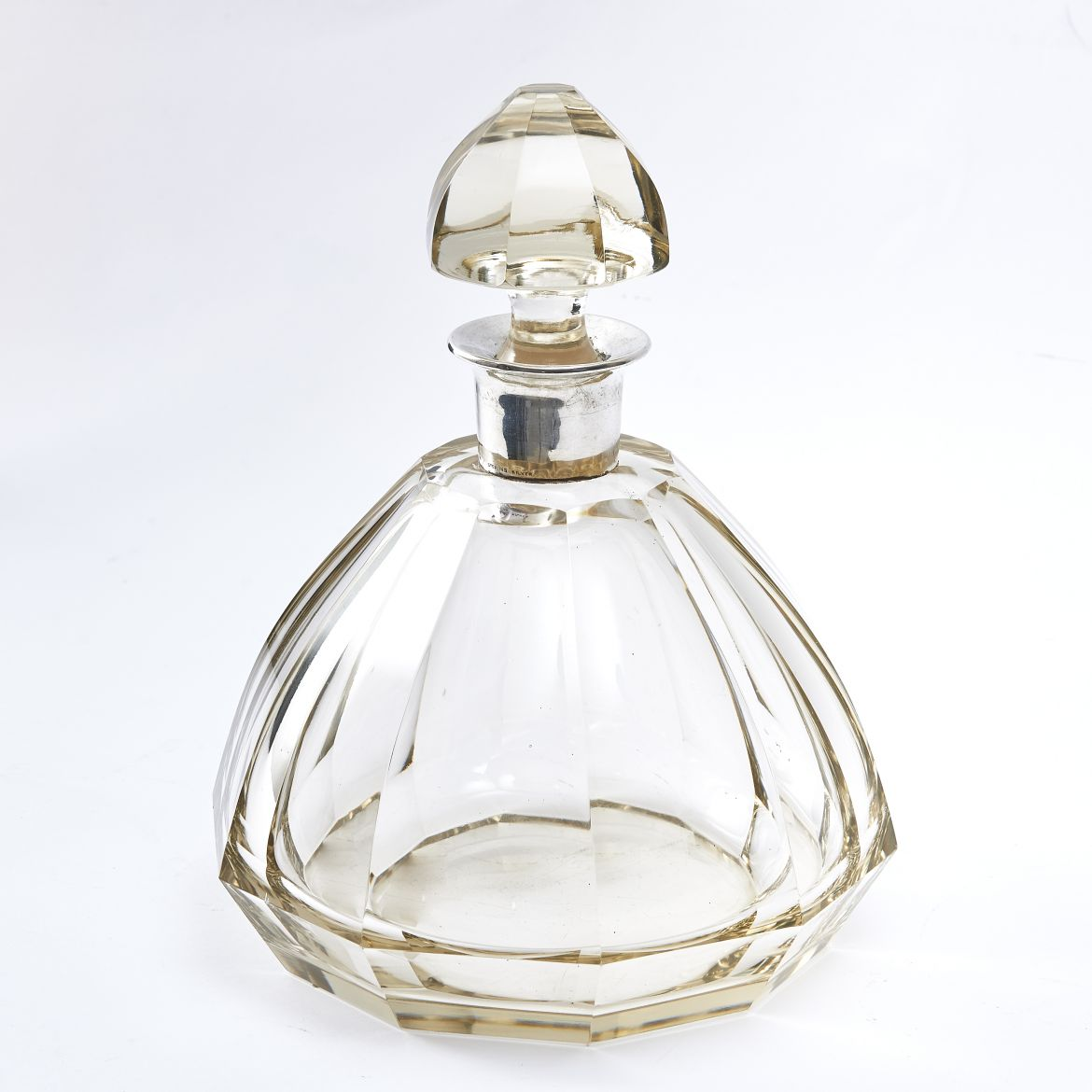 American Art Deco Silver Collared Decanter