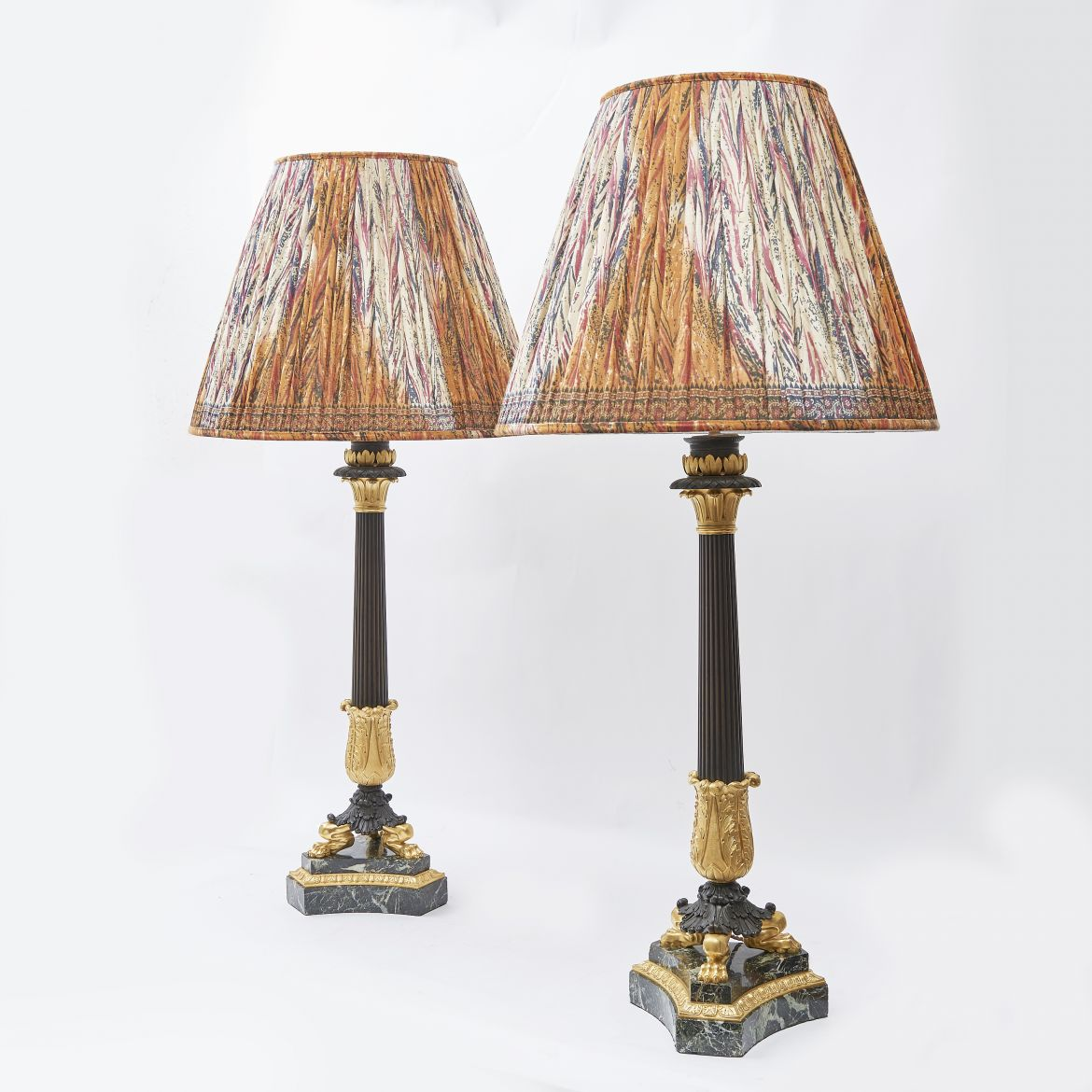 Louis Philippe Lamps On Marble Bases