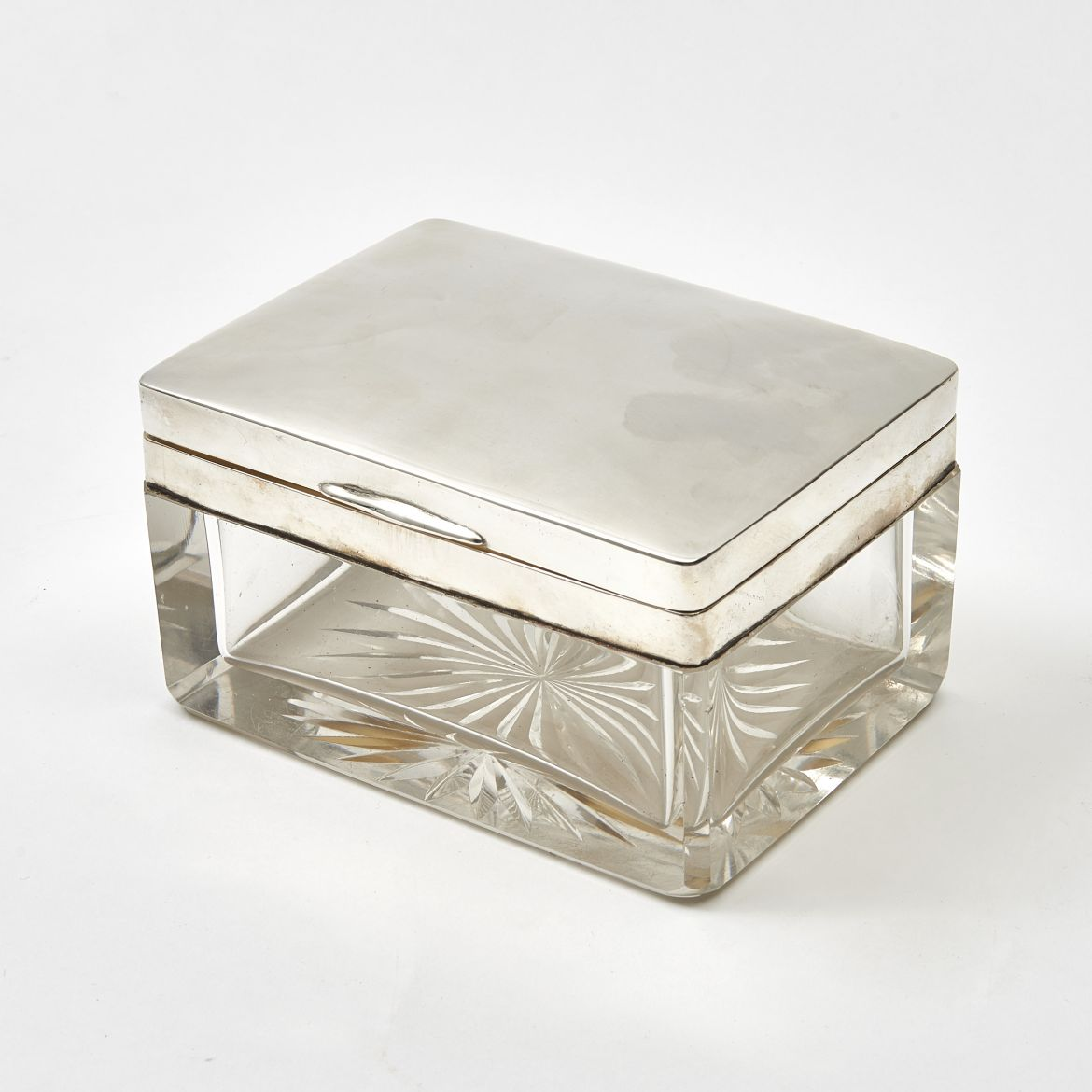 German Silver and Glass box